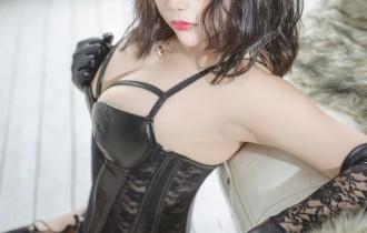Coser@抱走莫子a-VOL.31黑色皮衣[40P1V856M]