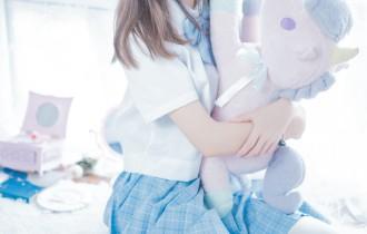 喵糖映画 – VOL.019 蓝白梦幻少女[46P917M]